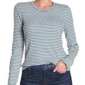 NWOT Madewell Crew Neck Striped Long Sleeved Top